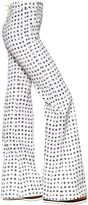 Max Mara Wide Leg Star Printed Cotton Drill Pants