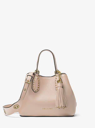 Michael Kors Brooklyn Small Leather Satchel