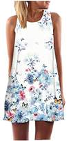 SRYS 2017 Summer Women New Sleeveless In the Long Section Harness Digital Printing Loose Floral Summer Dress