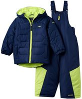 Pacific Trail Toddler Boy Fleece-Lined Heavyweight Quilted Puffer Jacket & Bib Snow Pants Snowsuit Set