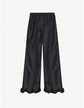 Cecilie Bahnsen Vinnie frilled-trim straight woven trousers