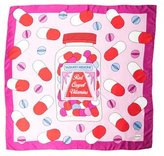 Yazbukey Silk Abstract Print Scarf s w/ Tags