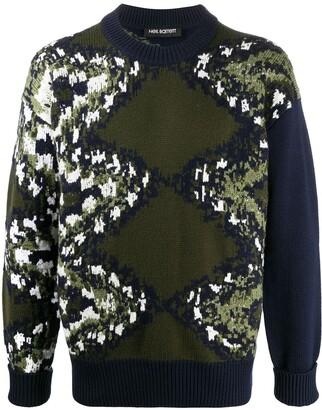 Neil Barrett Knitted Pattern Jumper