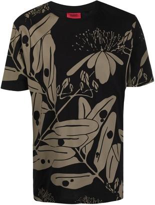 HUGO BOSS floral-print short-sleeve T-shirt
