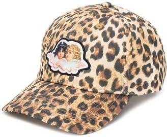 Fiorucci leopard print Angel cap