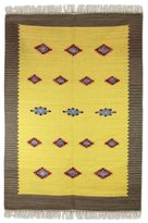 Novica Handcrafted Wool 'Sunshine and Starlight' Dhurrie Rug (4x6) (India)
