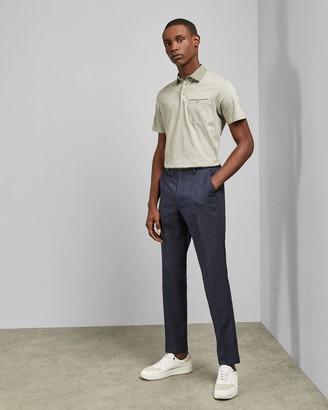 Ted Baker Woven Collar Cotton Polo Top