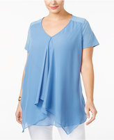 NY Collection Plus Size Layered-Look Top