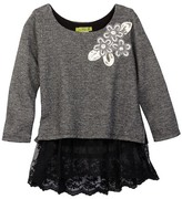 Little Mass Midnight Metallic Lace Shirt (Toddler, Little Girls, & Big Girls)