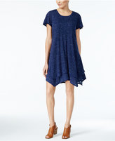 Style&Co. Style & Co Layered Handkerchief-Hem Dress, Only at Macy's
