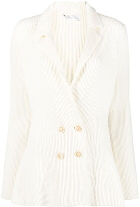 Agnona Knitted Double-Breasted Blazer