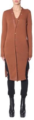 Rick Owens V-Neck Long Knitted Cardigan