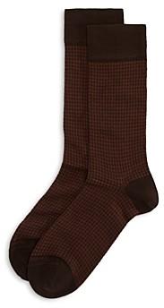 Marcoliani Milano Houndstooth Crew Socks