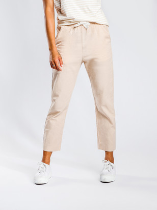 Nude Lucy Classic Linen Pants in Sand