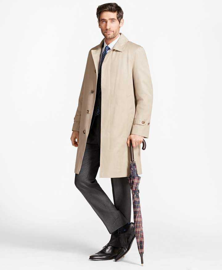 Brooks Brothers Single-Breasted Trench Coat