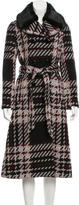Kate Spade Faux Fur-Trimmed Tweed Coat w/ Tags