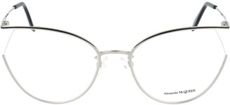 Alexander McQueen Eyewear Cat Eye Frame Glasses