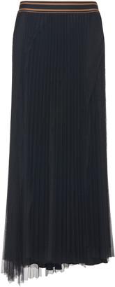 Brunello Cucinelli Pleated Tulle Midi Skirt