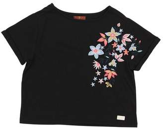 7 For All Mankind Kids Girls S-Xl Cropped Tee In Black