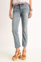 Free People Hi-Rise Raw Hem Cropped Jeans