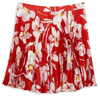 Milly Girl's Floral Pleated Skirt