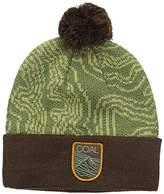 Coal Men's The Odyssey Fleece Banded Beanie Hat Pom