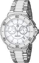Tag Heuer Women's Formula One Diamond Chronograph Watch White CAH1213.BA0863