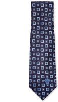Versace Geometric Print Silk Tie