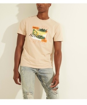 GUESS Men's Speed Night Graphic Tee