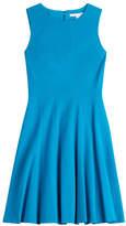 Diane von Furstenberg Fitted Dress with Pleated Skirt