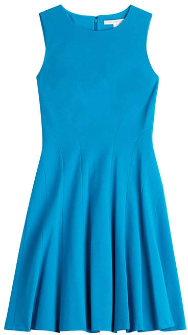 Diane von Furstenberg Fitted Dress with Pleated Skirt