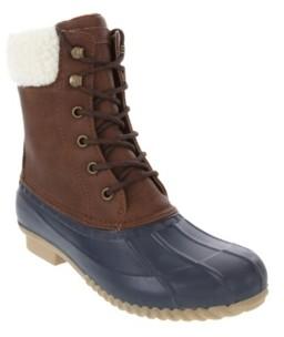 London Fog Women's Windchill Winter Duck Ankle Boot Women's Shoes