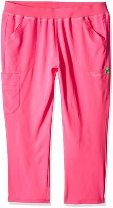 Carhartt Women's Petite Plus Cross-Flex Size Straight Leg Knit Waist Cargo Scrub Pant