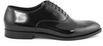 Doucal's Doucals Black Leather Oxford Shoes
