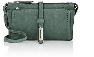 """Fontana Milano Women's """"Mini A"""" Suede Crossbody Bag - Green"""