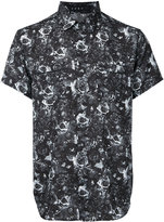 Roar rose and gun print shirt
