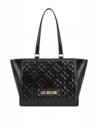 Love Moschino Quilted Shopper With Logo Woman Black Size U It - (one Size Us)