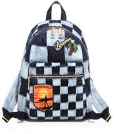 Marc Jacobs Checkered Denim Biker Backpack