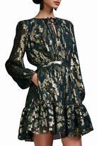 Cynthia Rowley Metallic Ruffle Dress