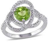Concerto 0.1TCW Diamond and Peridot Orbit Ring