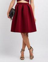 Charlotte Russe Full Pleated Scuba Skirt