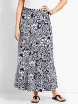 Talbots Etched Paisley Jersey Maxi Skirt