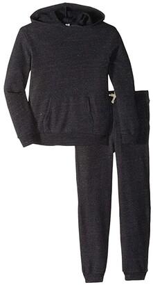 Alternative Kids Challenger Hoodie/Dodgeball Pants Set (Little Kids/Big Kids) (Eco Black) Kid's Suits Sets