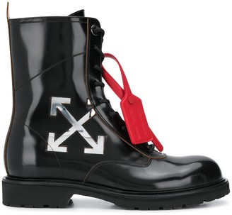 Off-White Off White arrow logo combat boots