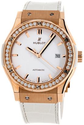 Hublot White 18K Rose Gold And Diamonds 542.OE.2080.LR.1 Women's Wristwatch 42 MM