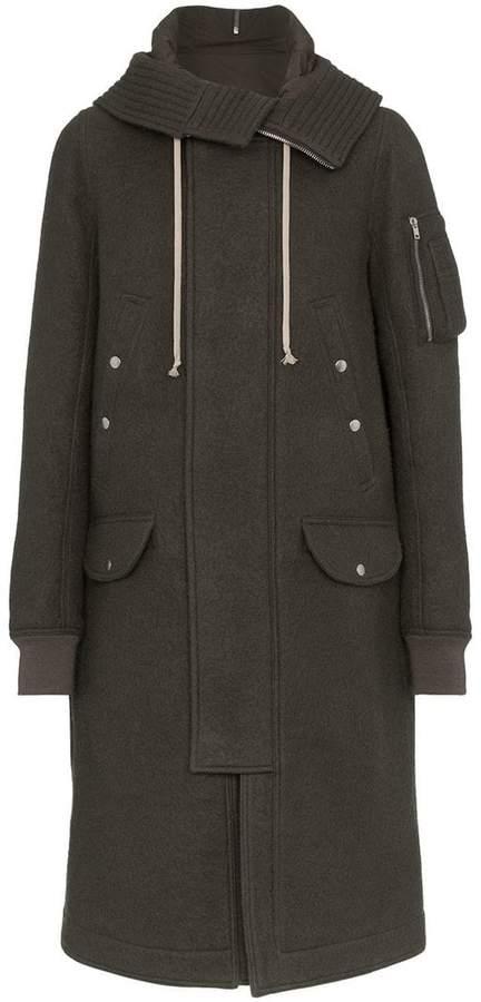Rick Owens Mega hood wool parka coat