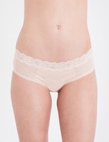 Passionata Brooklyn tulle and floral-lace hipster briefs