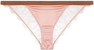LOVE Stories Lace-Trim Thong