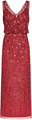 Adrianna Papell Sleevless Beaded Blouson Dress