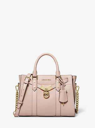 Michael Kors Nouveau Hamilton Small Pebbled Leather Satchel
